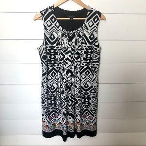 PERCEPTIONS Sleeveless Midi Dress Size XL